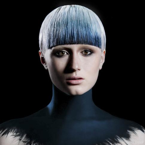 angelo trani ritratto portrait modella hair styling bodypaint hair color colore capelli parrucchiere