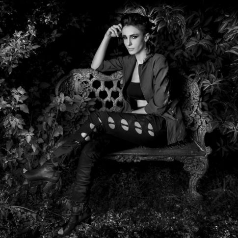 angelo trani ritratto portrait federica vincenti panchina giardino