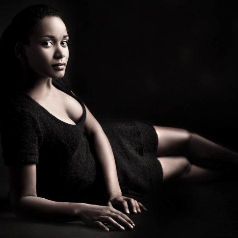 angelo trani ritratto portrait modella nera studio