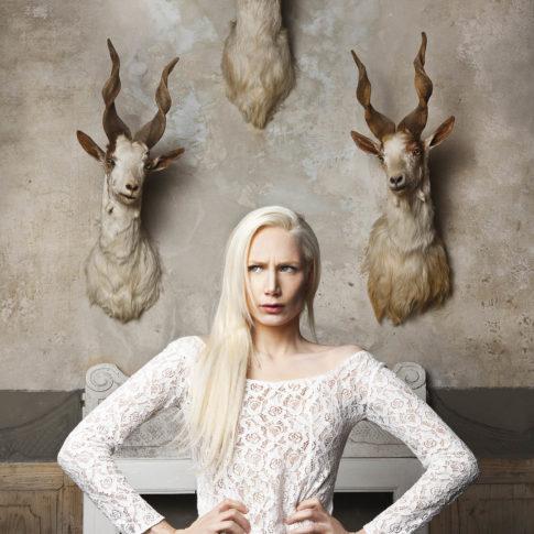 angelo trani ritratto portrait modella fashion studio
