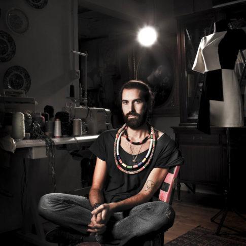 angelo trani ritratto portrait michele chiocciolini stilista designer atelier